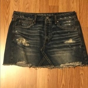 American Eagle Jean Mini Skirt